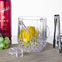 Acrylic ice bucket transparent portable champagne barrel crystal ice bucket Creative ice bucket bar club