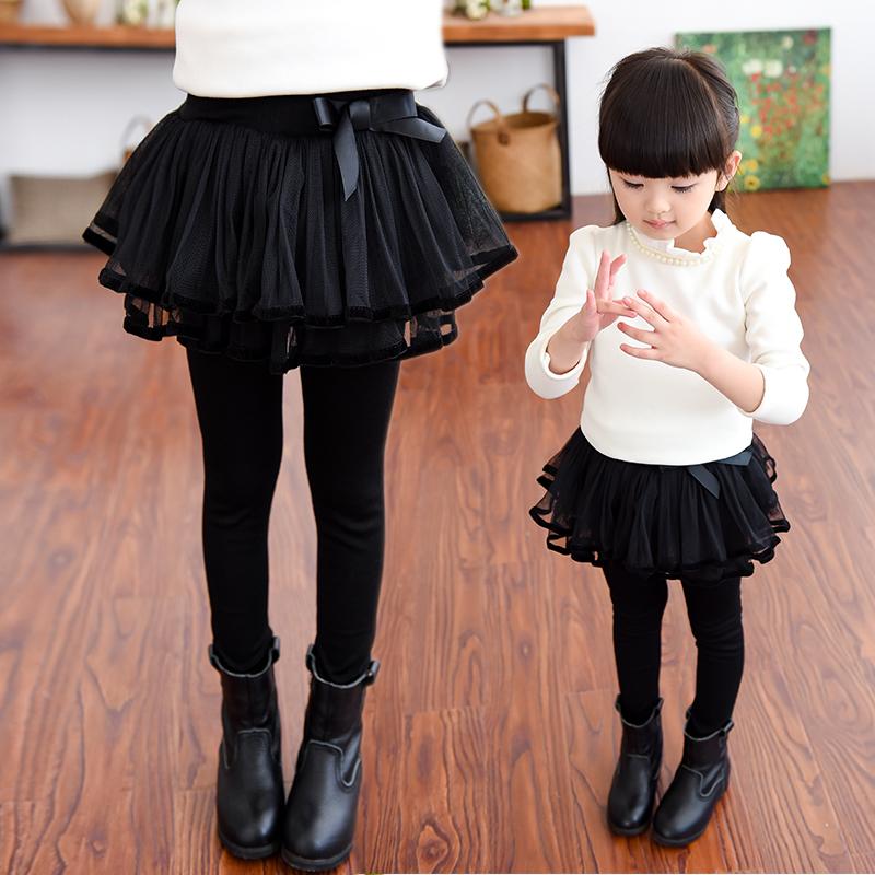 打底褲兒童加絨假兩件韓版