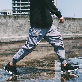 FLAM国潮有嘻哈口袋工装慢跑束脚长裤运动宽松休闲小脚球鞋裤男