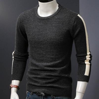 毛衣男秋冬季针织衫男装线衣毛衫套头修身韩版男士加绒加厚保暖潮