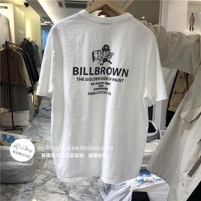 东大门韩国男装代购潮流卡通图案印花舒适亲肤短袖上衣棉质T恤