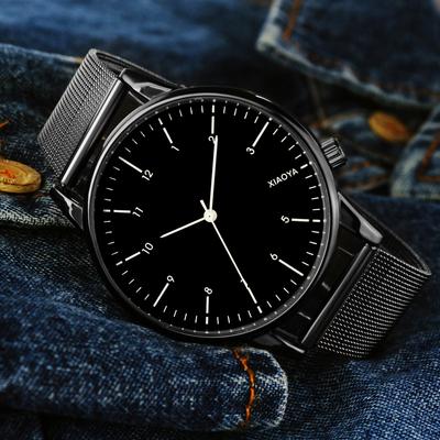 女士手表防水时尚款2018新款韩版潮流简约森系大表盘男表情侣手表