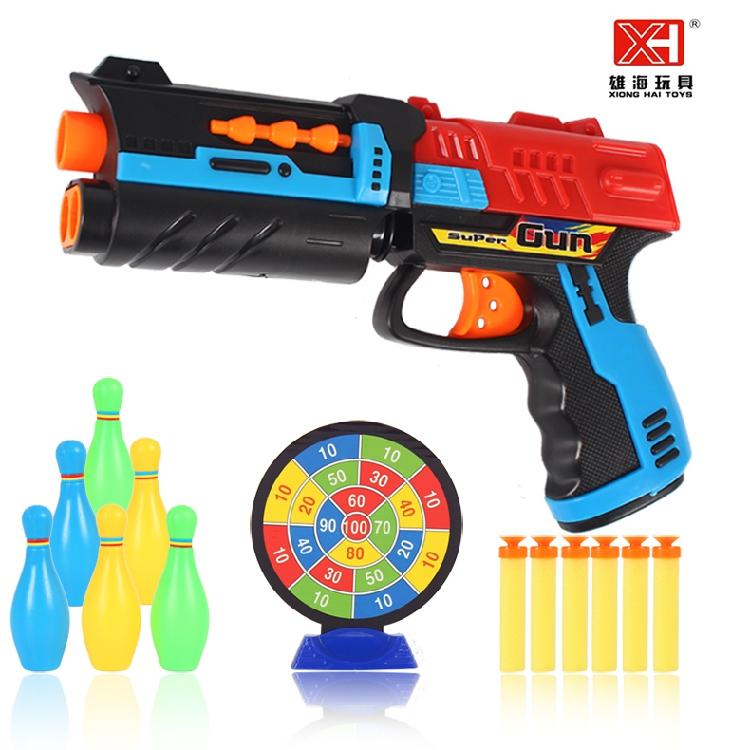 儿童玩具枪软弹枪 安全可发射软吸盘塑料子弹小孩男孩对战软弹枪