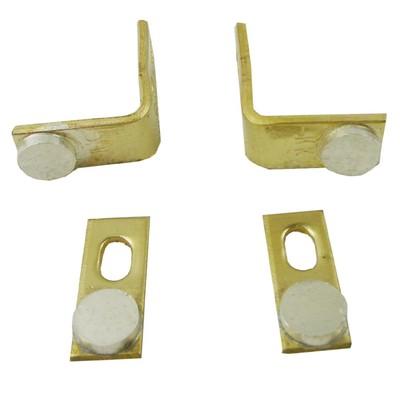 KK 白金机配件 银触点触头 线圈木板机升压器专用1对 大圆形实心