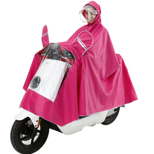 African leopard electric motorcycle raincoat adult double hat poncho poncho men and women single riding double sided cover increase raincoat