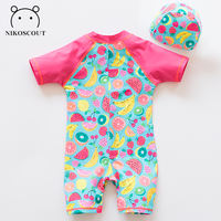Baby swimsuit baby girl 0-1 3 little girl swimsuit sunscreen conjoined child quick-drying children surfing swimsuit