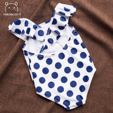 f987d61ec350e Baby swimsuit cute Korean young children wave point one-piece swimsuit baby  princess female child