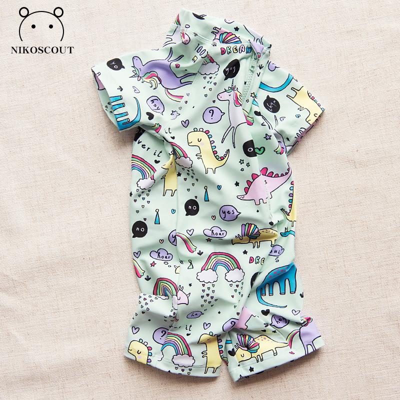 宝宝泳装婴儿卡通韩国女宝速干三岁小童防晒温泉男童连体儿童泳衣
