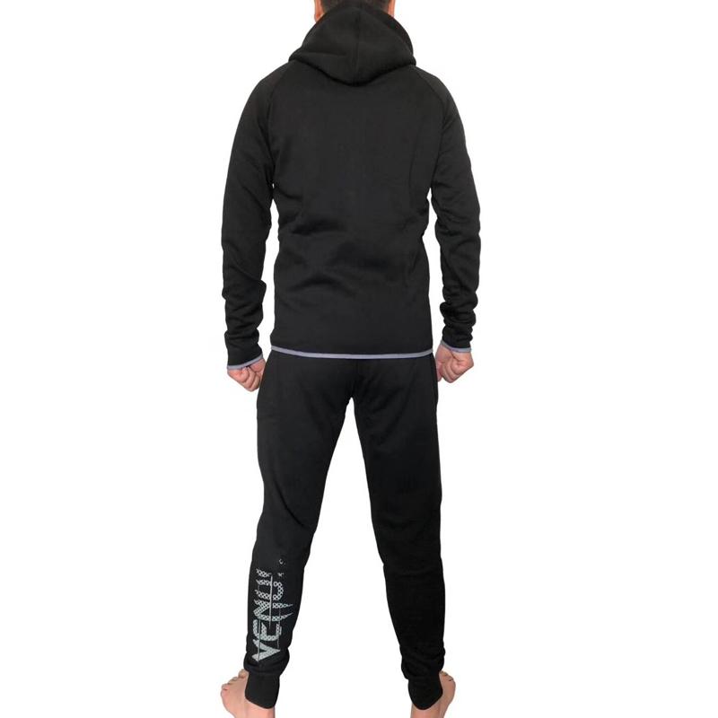 法国毒液男士休闲拉链舒适慢跑运动健身保暖连帽开衫卫衣