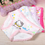 Children's panties girl's pure cotton briefs children's panties head baby princess baby shorts spring/summer 2-10 years old
