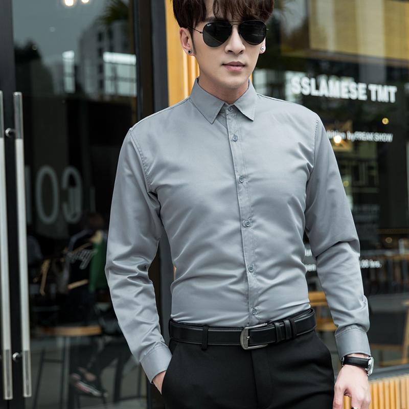 9.9批发衬衫长袖衬衣男装夏季韩版修身男士工装商务薄款短袖衬衣