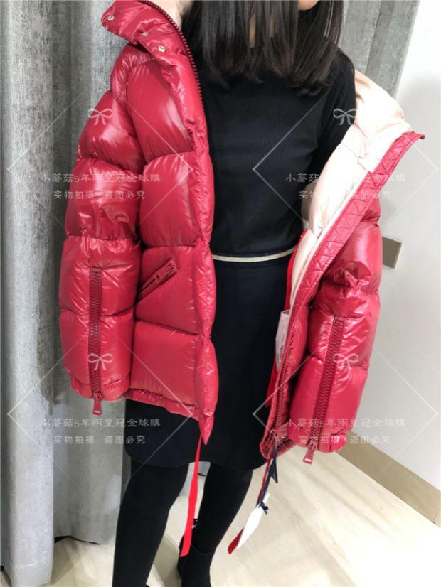 【在途】蒙口代购MONCLER CALLIS短款羽绒服女红色外套2017走秀款