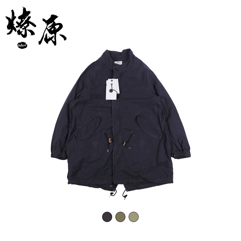 VISVIM SIX-FIVE FISHTAIL PARKA (GIZA ) 18SS 纯色长款夹克外套