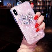 苹果x手机壳新款iPhone8plus保护套网红个性六创意八女款7p软硅胶6s水晶挂绳七水钻6贝壳潮卡通plus韩国X全包