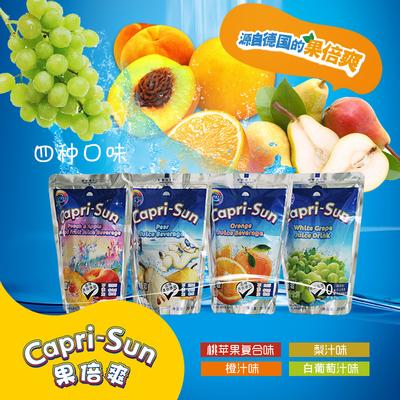 果倍爽儿童饮料200ml*12袋橙汁葡萄汁梨汁桃苹果汁 一个口味6袋