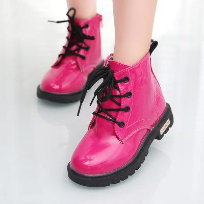 2017秋冬儿童马丁靴新款童鞋加绒保暖靴子男女童棉鞋中大童中筒靴