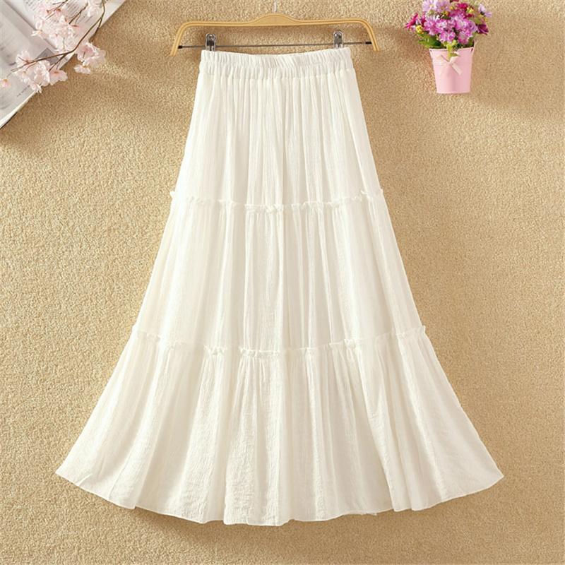 纯色显瘦半身裙百褶裙中长裙