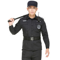 Security Workwear Set Men's Summer Short Sleeve Training Training Black Spring Autumn Winter Long Sleeve Property Security Uniform