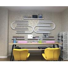 美甲桌子单双人三人美甲店桌椅凳子复古美甲台指甲桌展架修美甲桌