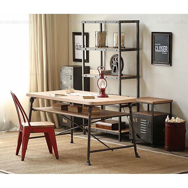 美式实木美甲桌椅凳子单人双人修甲台展示柜指甲桌美甲台甲油架