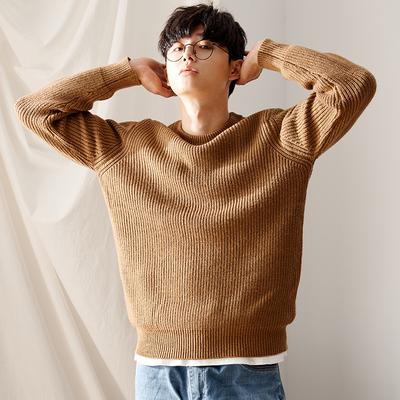 唐狮2017秋冬季ulzzang毛衣男士圆领韩版宽松针织衫个性潮流线衣