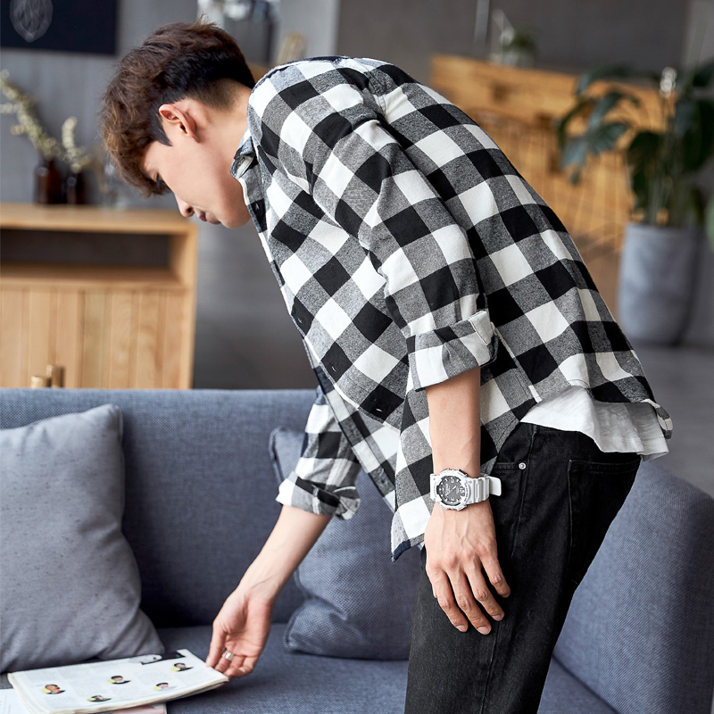 男士韩版加厚衬衣