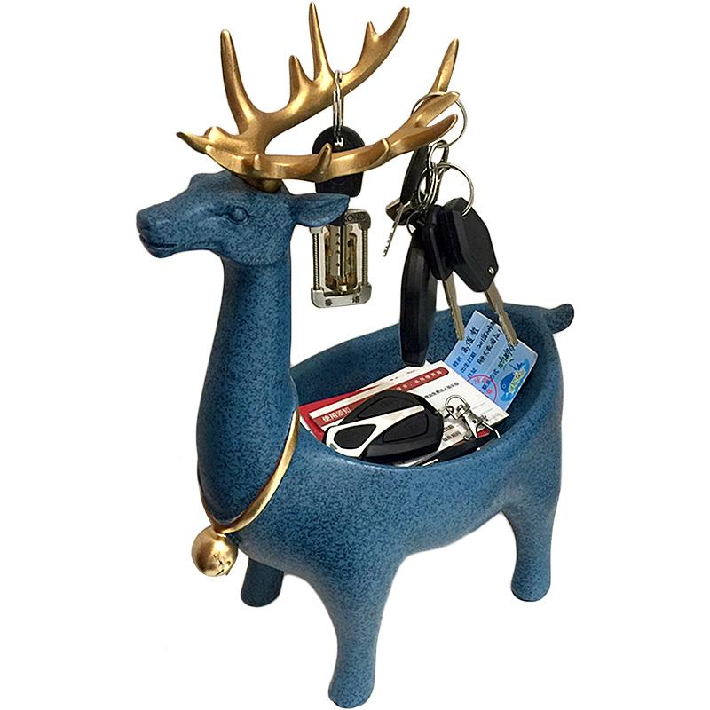 创意招财艺术品现代简约鞋柜玄关收纳钥匙盒北欧装饰摆件家居饰品