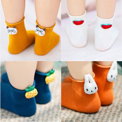 儿童短袜女薄款夏季纯棉宝宝袜子卡通可爱浅口袜男童女童低帮短袜