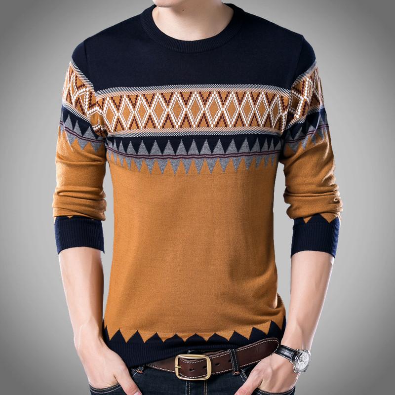 圆领长袖毛线衫