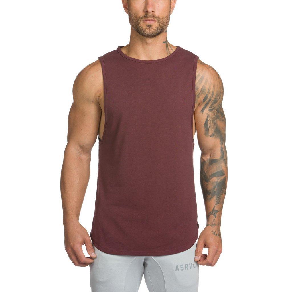 肌肉健身夏季男士跑步运动训练棉质吸汗宽松透气坎肩无袖休闲背心