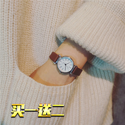 手表chic風小清新女皮帶學生韓版簡約潮流ulzzang休閑復古森女系誰買過的說說