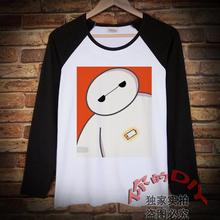 Popular Super Marines Big White Cartoon Anime Long Sleeve T-Shirt Men and Women Clothes Shirts Spring and Autumn Clothes Students
