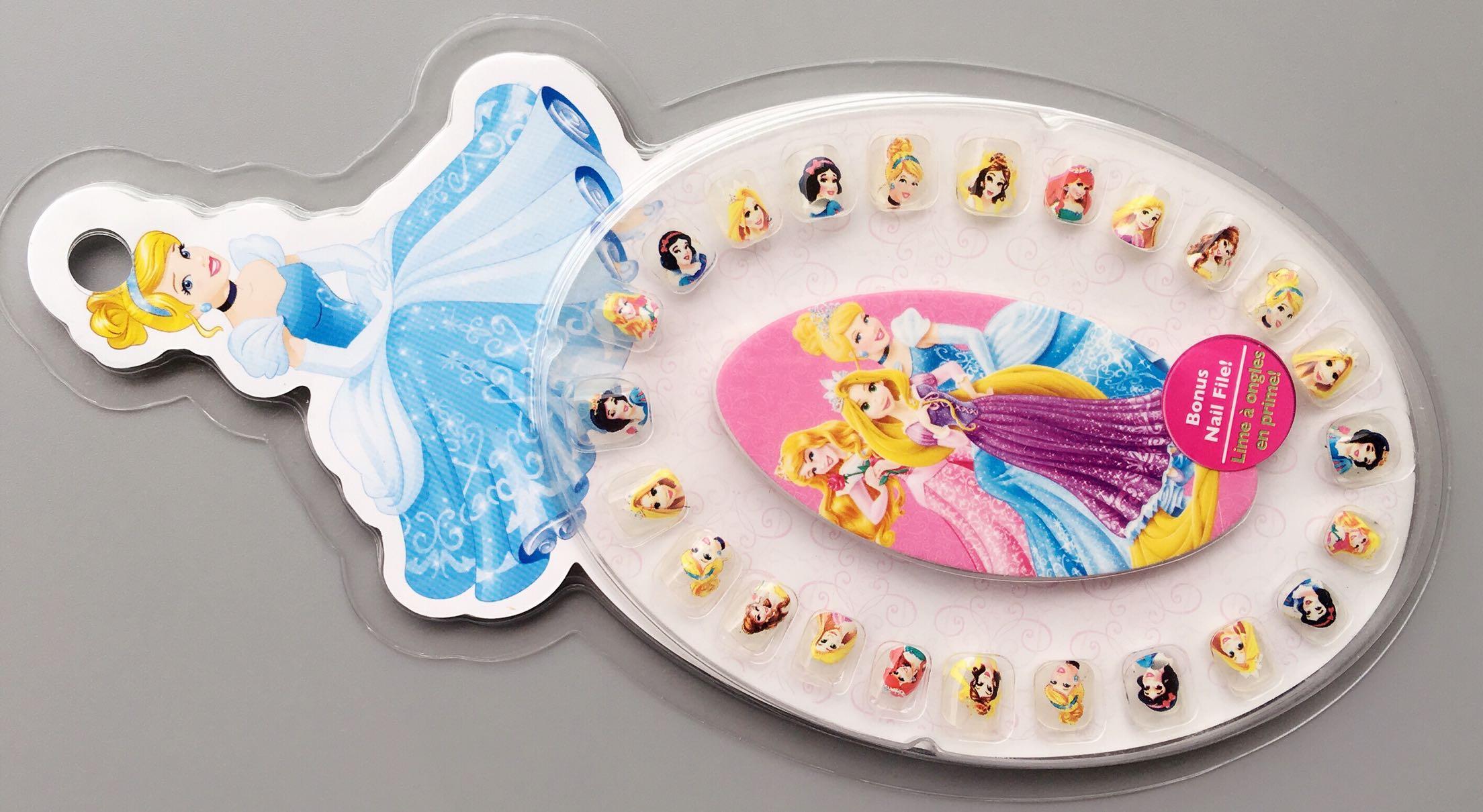 迪家儿童耳朵贴耳环贴指甲贴卡通公主冰雪小马宝莉饰品DIY亲子玩