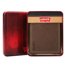 s李维斯钱包男短款 美国直邮Levi 做旧休闲复古男士 经典 皮夹钱夹