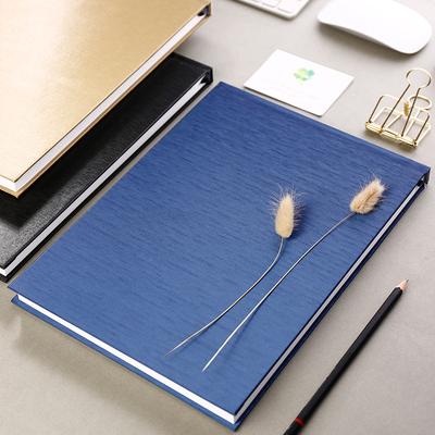 硬面硬壳简约A3素描本绘画本A4厚美术生素写本画画本速写本A5空白笔记本8k16开画本大本子125g铅画纸彩铅本厚