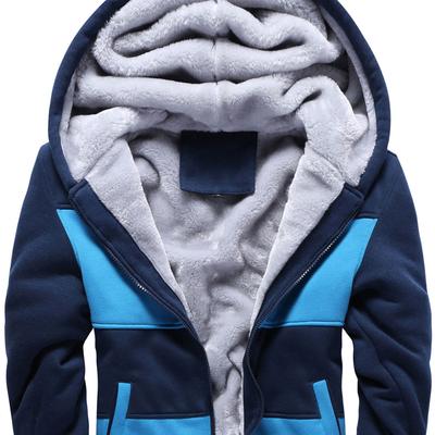 青少年冬季加绒加厚羊羔毛外套男冬天棉衣冬衣服中学生帅气小棉袄