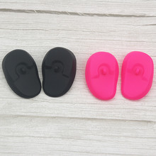 Hairdresser's salon home perm and baking oil reversed earmuffs waterproof earmuffs, hairdressing tools, soft silicone sheaths