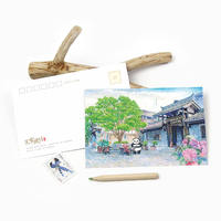 Kobayashi original creative hand-painted postcards Chengdu tourism scenery fresh and lovely giant panda