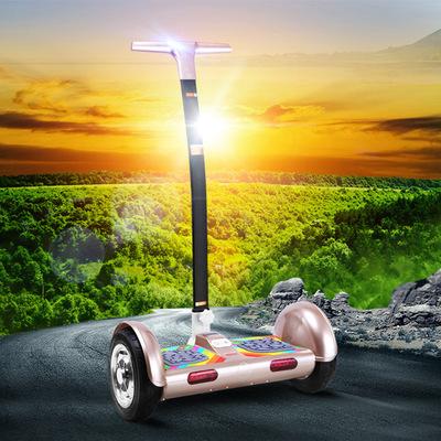 自动平衡车带扶手儿童双轮电动平行车学生小孩代步带扶杆兰博基尼谁买过的说说