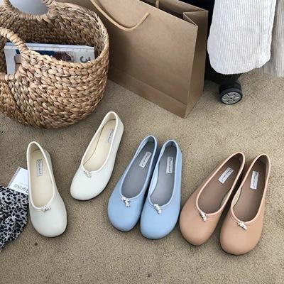 2019春季新款韩版一脚蹬甜美风休闲圆头平跟懒人鞋娃娃单鞋奶奶鞋