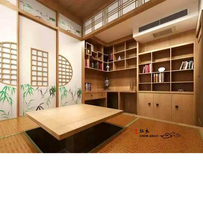 榻榻米定制卧室地台床日式整体衣柜实木书柜床垫全屋定制北京定做