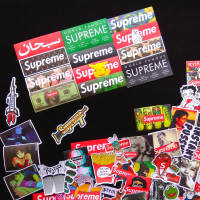 100 logo sticker suitcase travel trolley case skateboard guitar mobile phone laptop street fashion stickers