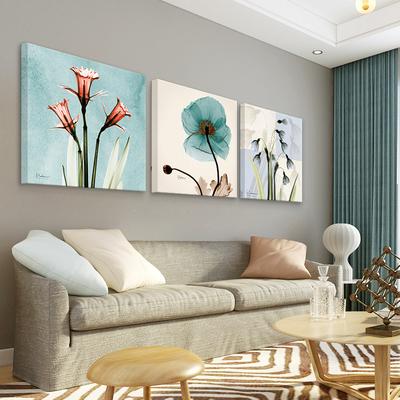现代客厅装饰画沙发背景墙画卧室挂画餐厅组合壁画无框简约三联画十大品牌