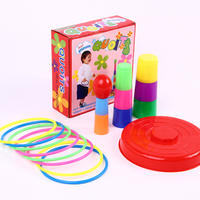 Children's ferrule toy throwing parent-child sports game layered rainbow tower stacking cup ferrule practice intellectual power