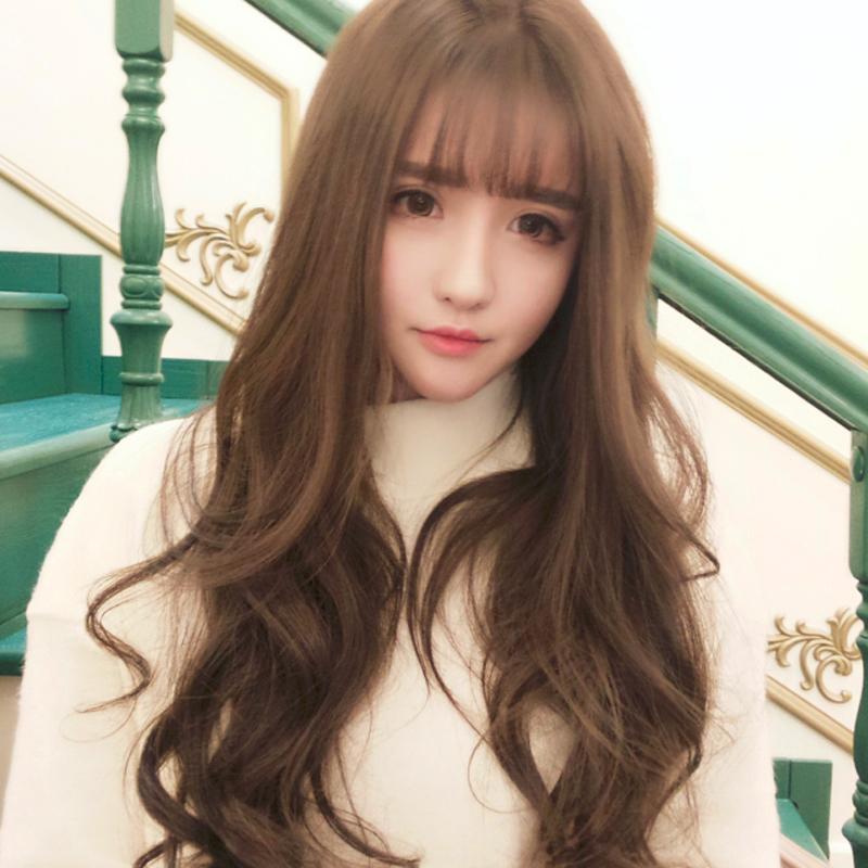 韩国蓬松长卷假发