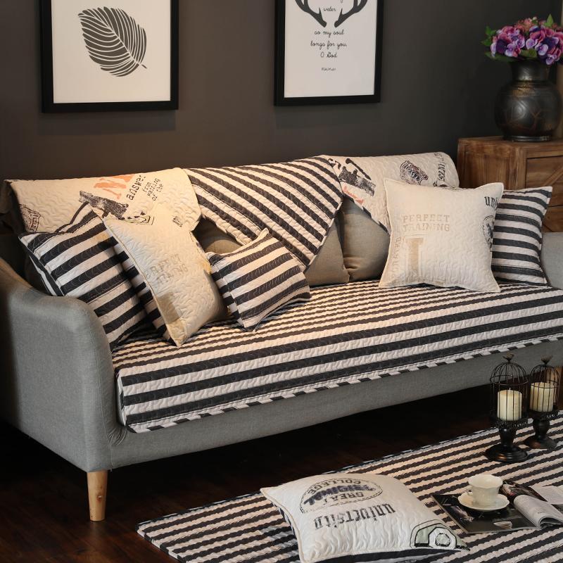 沙發墊布藝純棉客廳現代簡約