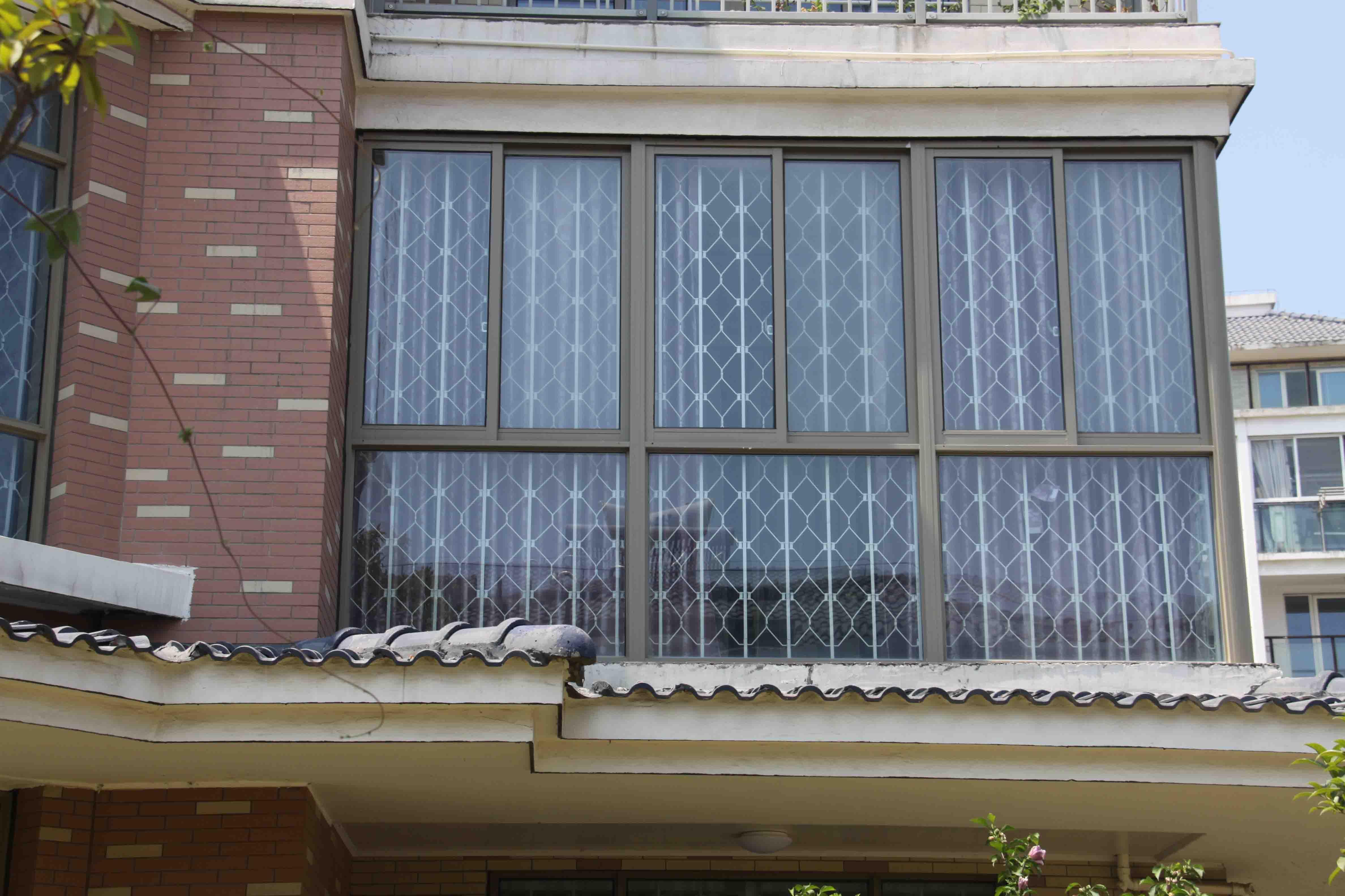 安然门窗折叠隐形防盗窗儿童防护窗防护栏隐形防盗网金钢网