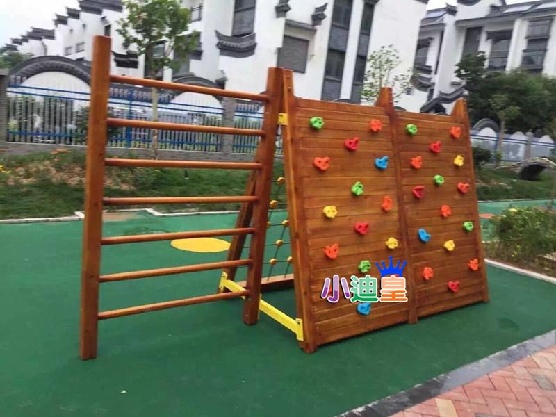 厂家直销室外木质攀岩攀爬网组合幼儿园体能训练组合钻洞滑梯