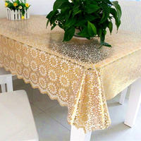 PVC hot stamping tablecloth rectangular coffee table mat waterproof and oil-free disposable anti-scalding plastic tablecloth European table cloth