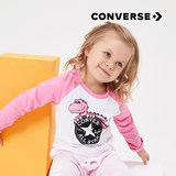 Converse Converse Children's Wear 2019 New Female Little Dinosaur Series Baby Long Sleeve T-Shirt 91182TL232